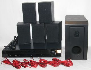 Dynex DX HTIB 200W Surround Sound Home Audio DVD Theater Speaker Sub