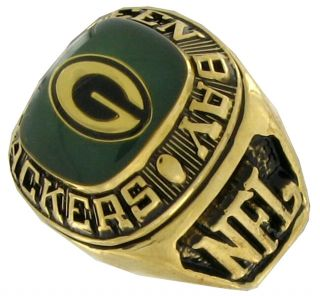 Football Offical NFL Ring Green Bay Packers Sz 10 5
