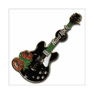 Hard Rock Cafe Pin 105 Cape Town Black Guitar Everything