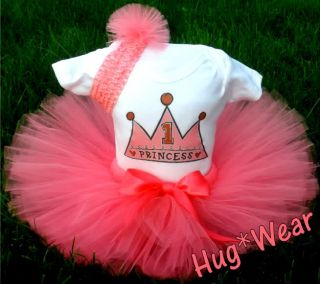 1st Birthday Princess Tutu Outfit Dress 2nd 3rd 4th