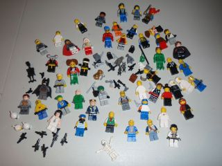 Huge Lego Pirates Star Wars Castle City Batman Minifig Lot of 50