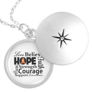 Leukemia Orange Ribbon Necklaces, Leukemia Orange Ribbon Pendants