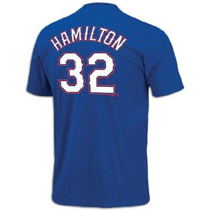 Majestic MLB Name and Number T Shirt   Mens   Josh Hamilton   Rangers