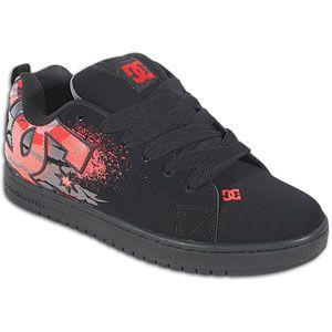DC Shoes Court Graffik   Mens   Skate   Shoes   Black/Rich Red