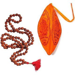 MANTRA MEDITATION SET ~ Rudraksha 108 Mala Prayer Beads w