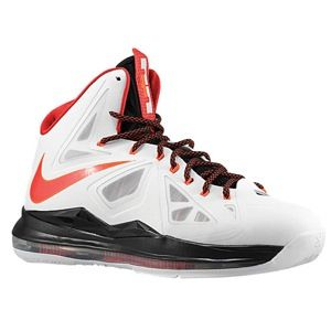 Nike Lebron X   Mens   Basketball   Shoes   White/Black/University