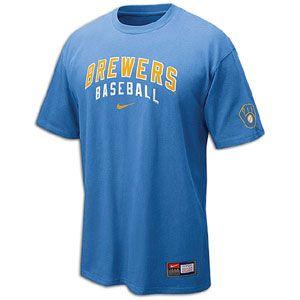 Nike Practice T Shirt 11   Mens   Baseball   Fan Gear   Brewers