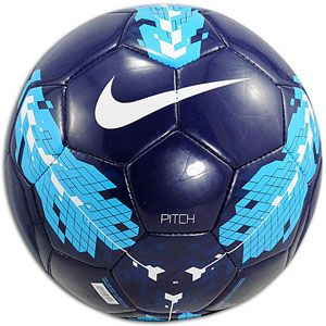 Nike Pitch Soccer Ball   Soccer   Sport Equipment   Dark Obsidian/Cyan