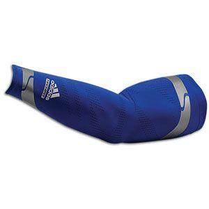 adidas Techfit Powerweb GFX Arm Sleeve   Mens   Blue/Dark Navy/Light
