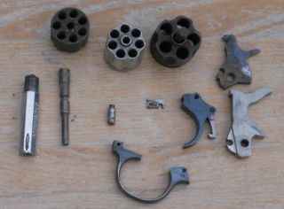 Small Lo of Iver Johnson HR Merwin Hulber Revolver Pars