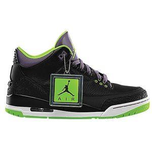 Jordan Retro 3   Mens   Basketball   Shoes   Black/Electric Green