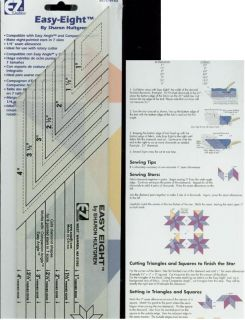 Quilting 882670152 Easy Eight Diamond Star Hultgren Quilt Ruler