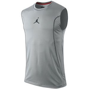 Jordan Get Ready Fitted Sleeveless Shirt   Mens   Matte Silver/Black