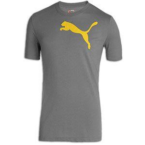 PUMA Cat S/S T Shirt   Mens   Casual   Clothing   Castle/Lemon
