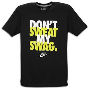 Nike Graphic T Shirt   Mens   Casual   Clothing   Black/White/Volt
