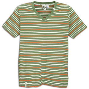 LRG Harvest Time Stripe V Neck Knit Tee   Mens   Skate   Clothing
