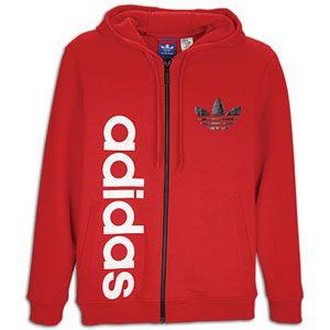 adidas Originals Big Logo Full Zip Fleece Hoodie   Mens   Casual