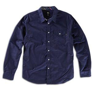 Stussy Classic Contrast Oxford Shirt   Mens   Skate   Clothing   Navy