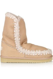 Mou Eskimo textured leather boots