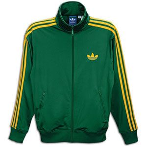 adidas Originals Firebird Track Jacket   Mens   Dark Green/Craft Gold
