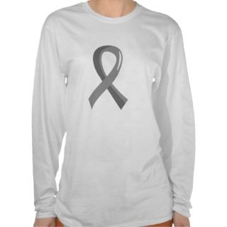 Brain Cancer Grey Ribbon 3 Tshirt