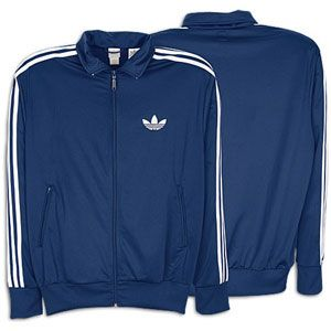 adidas Originals Firebird Full Zip Track Jacket   Mens   Indigo/White