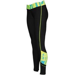 Under Armour Print Blocked Coldgear Fitted Tight   Womens   Training