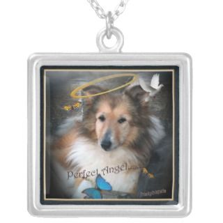 Shetland Sheepdog Perfect Angel Necklace
