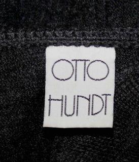 Otto Hundt Boiled Wool Black German Woman Winter Sweater Jacket Coat
