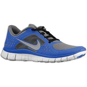 Nike Free Run + 3   Mens   Cool Grey/Reflective Silver/Game Royal