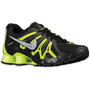 Nike Shox Turbo+ 13   Mens   Running   Shoes   Black/Volt/Metallic