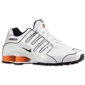 Nike Shox NZ   Mens   Running   Shoes   White/Total Orange/Dark