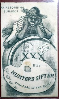 Vintage Black Americana Hunter's Sifter Victorian Trade Card
