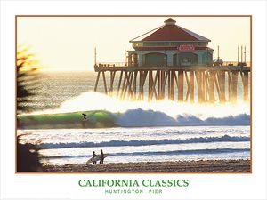 Huntington Beach Pier California Surfing Poster Gallery Print