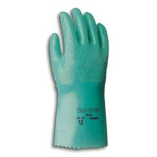 Ansell Sol Knit 39 124 Nitrile Chemical Resistant Gloves, 14   Size 9
