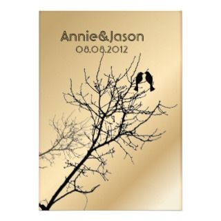Modern Love Birds Tree Wedding Invitation