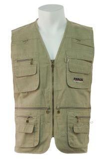 Multi Pocket Waistcoat Vest Fishing Hunting Hiking M 4XL