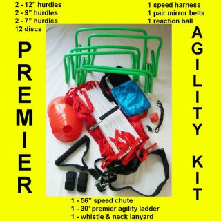 Agility Ladder Hurdles Speed Chute Power Harness Discs