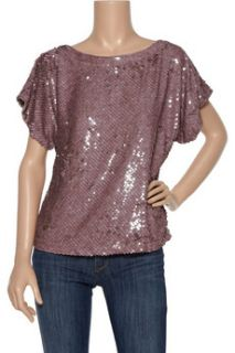 Alice + Olivia Keren sequined silk top   60% Off