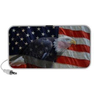 American Flag Eagle Doodle Travel Speaker
