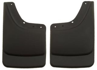 Husky Custom Molded Mud Flaps 57061 Thermoplastic Black Rear