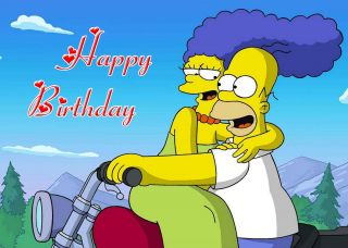 319 Personalised Birthday Card Simpsons Wife Husband Girlfriend