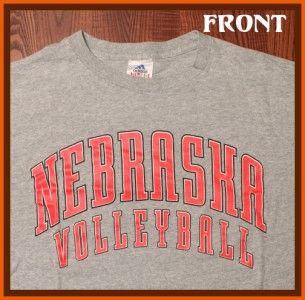 University of Nebraska Cornhuskers Volleyball School Logo Gray Large