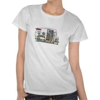 Shasta Camper Trailer RV Apparel T shirts