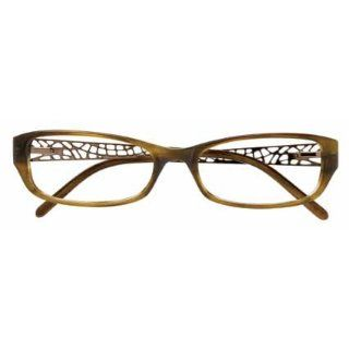 Ellen Tracy TULA 53/16/135 BROWN OLIVE HORN Sunglasses