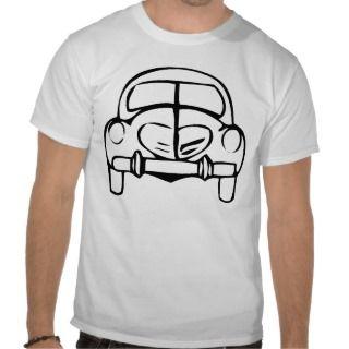 Classic car outline tshirt