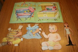 Vintage Baby Bonnie Paper Doll Set 1960s Whitman Publishing Co Racine