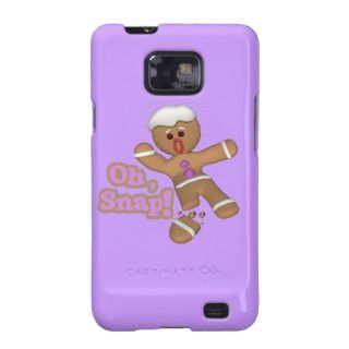cute funny oh, snap gingerbread man cookie galaxy s2 cover