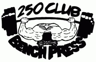250 Club Bench Press    250 Club Workout Shirt    T Shirts
