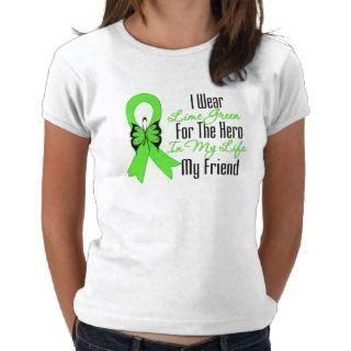 Lymphoma Cancer Ribbon My Hero My Friend Shirt